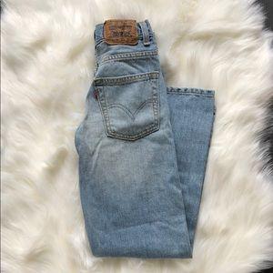 BOYS Levi's 527 boot cut jeans size 10 SLIM